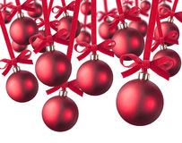Red Christmas balls Royalty Free Stock Image