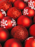 Red christmas balls. Background Stock Photo