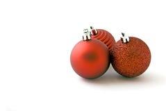 Red Christmas balls Stock Image