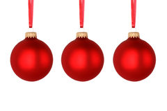 Red Christmas balls Stock Image