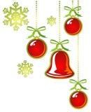 Red christmas balls Royalty Free Stock Photos