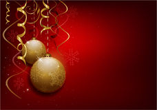 Red Christmas Balls Background Royalty Free Stock Photo