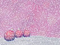 Red Christmas balls - 3D render Stock Image