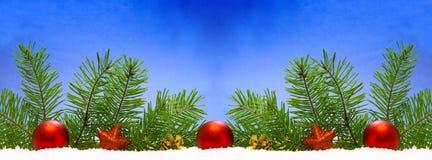 Red Christmas balls. royalty free stock image