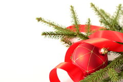 Red Christmas balls and decoration Stock Image