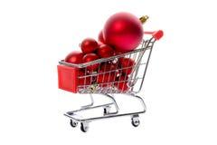 Red Christmas balls Royalty Free Stock Photo
