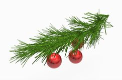 Red christmas balls ornaments Royalty Free Stock Images