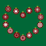 Red Christmas balls with snowflakes seamless pattern background Royalty Free Stock Photo