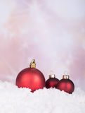 Red Christmas Balls Stock Photos