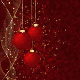 Red christmas balls. Stock Photo