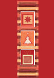 Red christmas banner. Red and copper christmas stripe design royalty free illustration