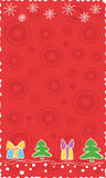 Red Christmas banner. Red vertical Christmas banner, vector Royalty Free Stock Photo