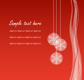 Red christmas banner. With transparent balls Royalty Free Stock Image