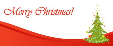 Red Christmas banner illustration Stock Image