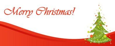 Red Christmas banner illustration Stock Image