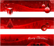 Red Christmas banners Stock Photo