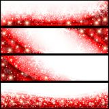 Red Christmas Banners vector illustration