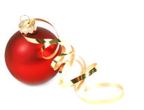Red Christmas Bauble Royalty Free Stock Image