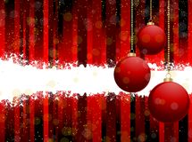 Red christmas bauble background Royalty Free Stock Photo