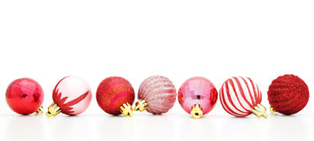 Red Christmas Bauble Border Stock Photography