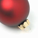 Red Christmas Bauble Stock Image
