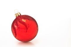 Red Christmas bauble. Decoration isolated on white background Royalty Free Stock Image