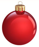 Red Christmas bauble, isolated on a white background.  vector illustration