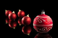 Red Christmas Bauble. Royalty Free Stock Image