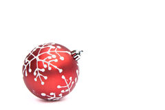 Red Christmas bauble tree decoration Stock Image