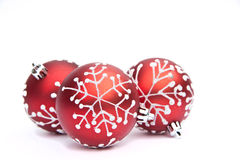 Red Christmas bauble tree decoration Stock Photo