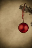 Red Christmas Bauble - Vintage Style Royalty Free Stock Photos