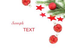 RED CHRISTMAS BAUBLES Royalty Free Stock Photo