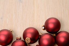 Red christmas baubles Royalty Free Stock Photography