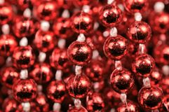 Red Christmas Bead Garland Stock Images
