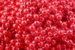Red christmas beads Stock Image