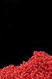 Red christmas beads Stock Photo