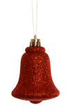Red christmas bell decoration hanging Stock Images