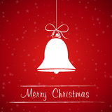 Red christmas bell frame Royalty Free Stock Photo