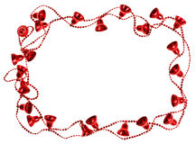 Free Red Christmas Bell Garland Frame Stock Image - 27095041