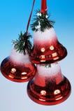 Red Christmas bells. Stock Photos