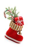 Red christmas boot Stock Photo