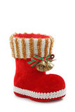 Red christmas boot Royalty Free Stock Images