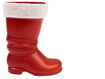 Red christmas boot Royalty Free Stock Photos