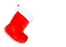Red christmas boot Royalty Free Stock Image
