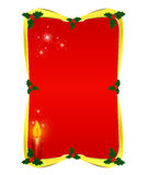 Red Christmas border Royalty Free Stock Photography