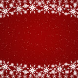 Red Christmas border Stock Photo