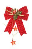 Red christmas bow. Isolated on a white background Stock Photography