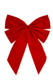 Red Christmas Bow Royalty Free Stock Photography