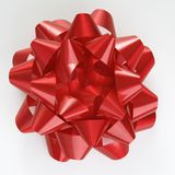 Red Christmas bow. Stock Photo