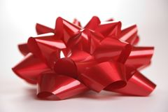 Red Christmas bow. Stock Photography